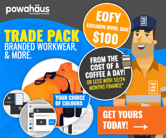 EOFY Offer, Save $100 on Trade Packs, Branded Workwear, & More