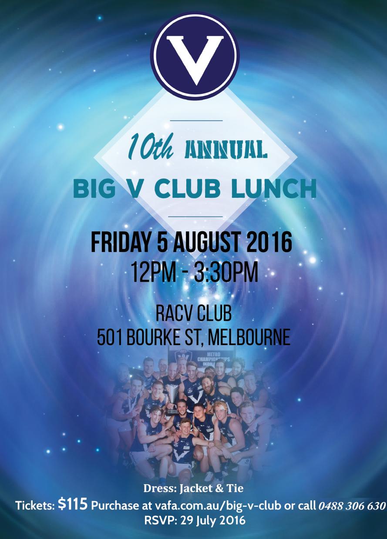 Big V Club Lunch Flyer Ph No Change Vafa