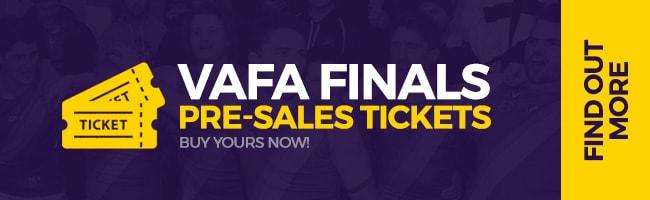 2019 VAFA Finals PRE-SALE TICKETS